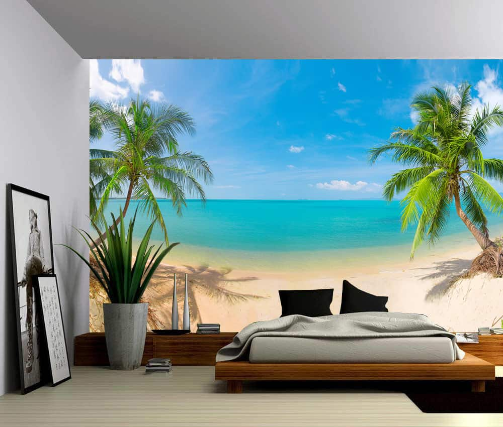 Seascape Palm Beach, Self-adhesive Vinyl Wallpaper, Peel