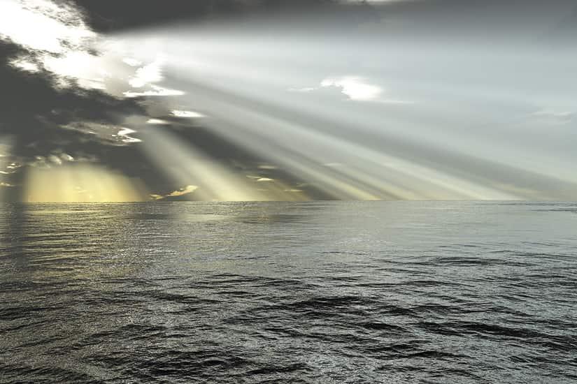 Seascape Ocean Rays Of Light Self Adhesive Vinyl
