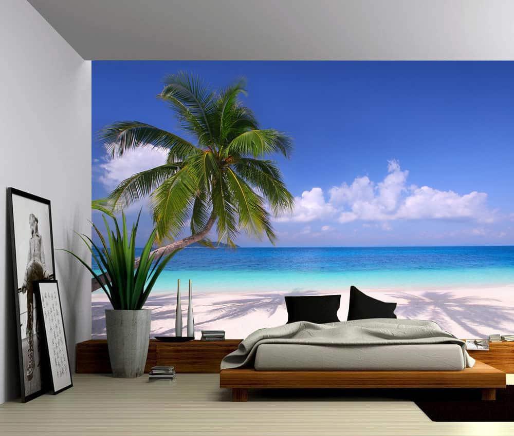 Seascape Palm Beach Summer Tropical Tree Self Adhesive